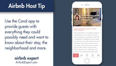 Just checked another Airbnb guest in with LiveCoralLife. The app features everything an #Airbnb wants to know.