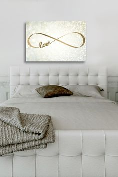 Oliver Gal Sparkle Love Canvas Wall Art