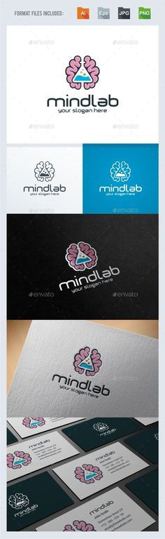 Mind Lab Logo Template — Transparent PNG #Smart Lab #laboratory test • Available here → https://graphicriver.net/item/mind-lab-logo-template/16831807?ref=pxcr