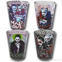 Suicide Squad Character Mini Glass 4-Pack