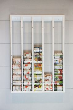 ana white This can organizer will free up so much pantry space! It fits 32 cans in less than on the wall. The clear acrylic glass (in an off the shelf size) keeps cans visible so you know