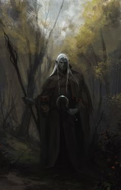 Katsh  Gad emerges from a copse of trees silently, wearing a heavy cloak. The only Ogefest jewelry he wears is a large necklace, the family crest as a pendant.