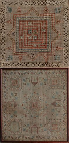 Antique Greek Embroidery Folk Embroidery, Embroidery Patterns Free, Cross Stitch Embroidery, Textiles, Textile Tapestry, Palestinian Embroidery, Greek History, Drawn Thread, Fabric Art