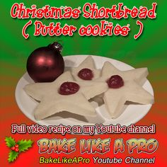 Christmas Shortbread Recipe ( Butter Cookie Recipe) ►CLICK PICTURE to watch recipe Holiday Baking, Christmas Baking, Holiday Recipes, Great Recipes, Baking Recipes, Cookie Recipes, Butter Cookies Recipe, Shortbread Recipes, Cookies
