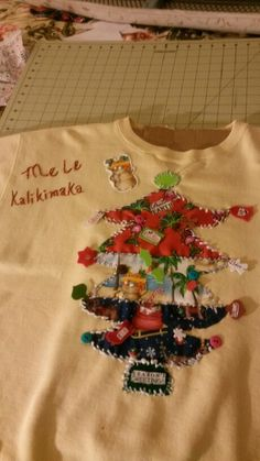 My first  holiday  ugly sweatshirt completed; 0)