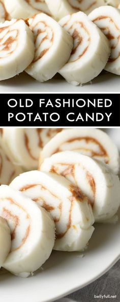 This Old Fashioned Potato Candy is a classic treat made with only 4 ingredients and doesn't require any baking! This Old Fashioned Potato Candy is a classic treat made with only 4 ingredients and doesn't require any baking! Fudge Recipes, Candy Recipes, Sweet Recipes, Dessert Recipes, Holiday Recipes, Holiday Treats, Christmas Recipes, Dessert Bread, Bread Recipes