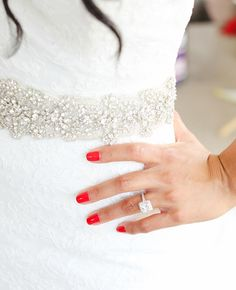 Bright Red Manicure | L&L Style Photo | Blog.TheKnot.com