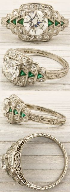 I love vintage Art Deco rings.