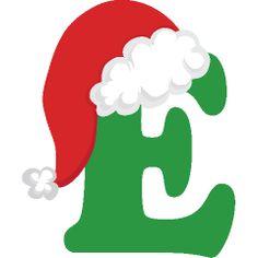 Christmas Alphabet, Christmas Hat, Christmas Crafts, Christmas Decorations, Christmas Ornaments, Monogram Alphabet, Alphabet And Numbers, Holiday Fonts, Navidad Diy