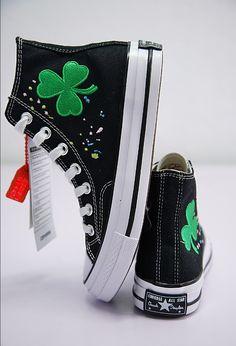 dd3646149d83 CONVERSE CHUCK TAYLOR ALL STAR 70S CLOVER EMROIDERED SNEAKER AA3836101 · Converse  SneakersConverse HighHigh Top ...