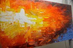 Original acrílico abstracto pintura moderna cuadros abstractos arte moderno gran venta ByChen moderno cuchillo de paleta de pintura con textura https://www.etsy.com/shop/xiangwuchen Tamaño: x1.2 24 x 48  [60x1120x3cm] Estirar espesor: 1,2(3cm) Técnica: Pesado impasto, por el cuchillo de paleta, efecto 3d y textura Enmarcado / estirar (aliste para colgar) Las partes están libres de grapas y son pintados de negro. Está listo para colgar. Esta pintura es 100% pintado a mano arte original y no…