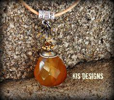 Butterscotch Necklace by KISDesigns on Etsy