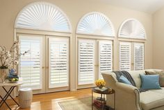 """Hunter Douglas NewStyle Hybrid  """"The value-priced NewStyle® hybrid shutters are plantation-style shutters that blend the beauty of real wood and advanced modern-day materials to create a stunning and durable window covering for any room."""""""