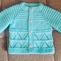 hand knitted blue baby cardigan cashmerino baby by emilyandevelyn - PIPicStats Baby Boy Knitting Patterns Free, Baby Sweater Patterns, Baby Sweater Knitting Pattern, Knit Baby Sweaters, Knitted Baby Clothes, Baby Patterns, Free Knitting, Crochet Baby Jacket, Pull Bebe
