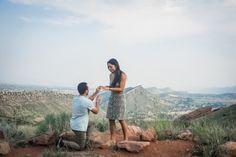 Proposal photos by High Altitude Photography. Red Rocks Park Colorado.