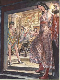Etruscomix original poster made  by Milo Manara.