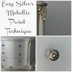 Hymns and Verses: Easy Silver Metallic Paint Technique
