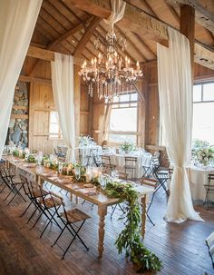 "8 Dazzling Ways to Illuminate Your Wedding. || ♡ OK...Take this look, and create a 1 room ""(She) Chic Shed"" in your backyard, maybe...down by the water??? I LIKE IT!!! ♥A"