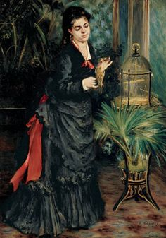 Collection Online | Pierre-Auguste Renoir. Woman with Parrot (La femme à la perruche). 1871 - Guggenheim Museum
