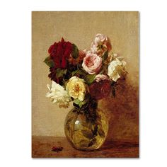 Trademark Fine Art Roses 1884 inch Canvas Art by Henri Fantin Latour, Size: 24 x Multicolor Henri Fantin Latour, Painting Frames, Painting Prints, Art Prints, Canvas Prints, Art Floral, Flower Vases, Flower Art, Fine Art Amerika