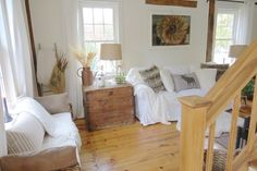 The Long Awaited Home: Fall Home Tour 2015.  Natural, neutral fall decorating with white and wood.