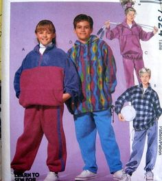 McCALLS Sewing Pattern 7324 - SZ 7,8,10 - BOYS OR GIRLS JACKET