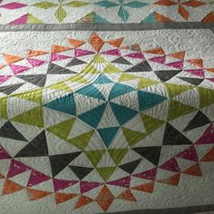 I have had a lot of fun designing and making quilts for my newest class called Kaleido-design. My favourite has to be the medallion style qu...
