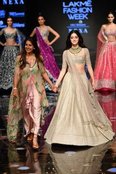 New Anushree Reddy 2019 Lakme Fashion Week Lehenga Prices - Indian Fashion Dresses, Indian Bridal Outfits, Indian Bridal Fashion, Indian Designer Outfits, Fashion Clothes, Designer Dresses, Party Wear Lehenga, Bridal Lehenga, Mehendi Outfits