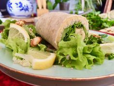 Wrap houmous, brocolis et quinoa