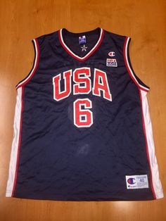 cdeca4540 Vintage 1990s Allan Houston Dream Team Champion Jersey Size 40 shaquille  o neal charles barkley michael jordan scottie pippen magic johnson