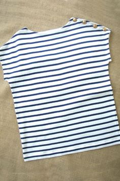 striped knit tee for girls
