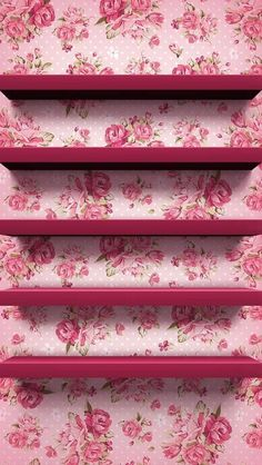 Rose floral shelves~ wallpaper