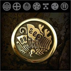 Family Crests of Japan Samurai Family Crests Coat of Arms Brass ConchoWILD HEARTS Leather & SilverWILD HEARTS Leather & Silver (ID cc2514) http://item.rakuten.co.jp/auc-wildhearts/cc2514/