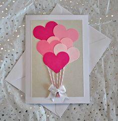 50 Ideias de cartões para o Dia das Mães Valentines Day Cards Handmade, Unique Birthday Cards, Valentine Day Crafts, Valentines Hearts, Mothers Day Cards, Valentine's Day Diy, Creative Cards, Creative Gifts, Diy Cards