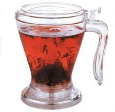 Teaze Tea Infuser - Over the Cup Infuser - http://teacoffeestore.com/teaze-tea-infuser-over-the-cup-infuser/