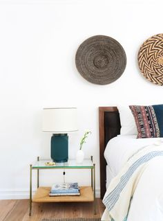 Tribal inspired bedroom: http://www.stylemepretty.com/living/2015/10/17/eclectic-los-angeles-bungalow-with-a-little-something-for-everyone/ | Photography: Tessa Neustadt - http://tessaneustadt.com/