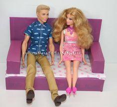 Kinyitható kanapé barbie méretben ágyneműtartóval, részletes leírással/ Barbie sofa tutorial