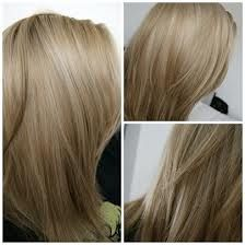 Light ash blonde hair with lowlights