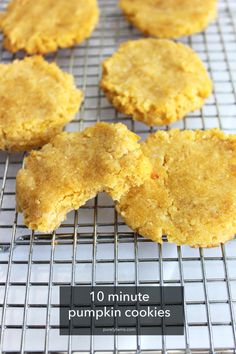 5 ingredient pumpkin cookies -- How to make the easiest pumpkin cookies without any grains, gluten, dairy, eggs, or soy!
