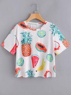 Camiseta estampada de fruta