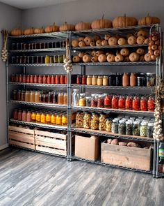 Food Storage Rooms, Canned Food Storage, Casa Bunker, Home Grown Vegetables, Root Cellar, Home Canning, Pantry Design, Kitchen Pantry, Kitchen Organization