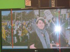 Krysta @ the green screen @ Global News