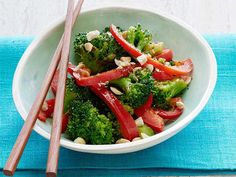 Pick up pre-cut florets for this Pepper and Peanut Broccoli Stir-Fry to save time for dinner tonight.