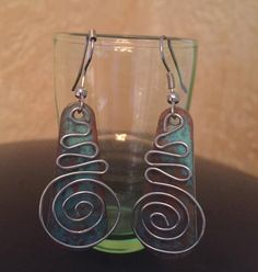 Copper Patina with Swirls by CricketBArtsy on Etsy