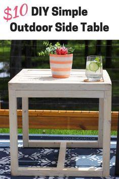 Simple 10 Diy Outdoor Side Table Simple 10 Diy Outdoor Side Table Build An Outdoor End Table Inexpensive Patio Furniture Deck Furniture Budget Friendly Accent Table Toolboxdivas Inexpensive Patio Furniture, Diy Garden Furniture, Diy Outdoor Furniture, Deck Furniture, Furniture Projects, Rustic Furniture, Modern Furniture, Furniture Makeover, Furniture Storage