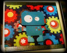 Handmade robot card