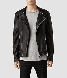 AllSaints - Jasper Leather Biker Jacker - Love jackets like to to sex up and outfit.