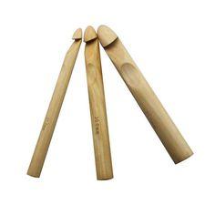 Par de bambú de un solo extremo Pony Tejer Pins 33cm X 5mm