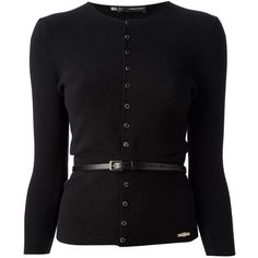 DSQUARED2 belted cardigan found on Polyvore