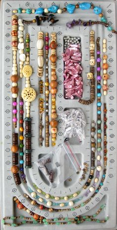 One of my favorite strategies for overcoming creative blocks is one I learned in my college ceramics class. Make 100 Things! - she went on to say that once all were together (she only got 80 done in the week given...) she saw a pattern here she sets up to work on a type of natural stone jewelry....
